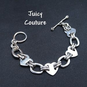 Juicy Couture Bracelet, Heart Links, Toggle Clasp